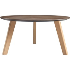 LLR 16247 Lorell Relevance Walnut Round Coffee Table LLR16247