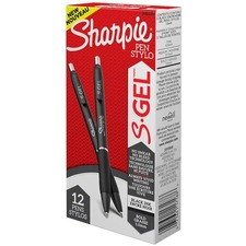 Sharpie S-Gel Pens - 1 mm Pen Point Size - Retractable - Black Gel-based Ink