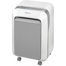 "Fellowes Powershred® LX210 Micro-Cut Shredder (White) - Micro Cut - 16 Per Pass - for shredding Paper, Credit Card, Paper Clip, Staples, Junk Mail - 0.2"" x 0.5"" Shred Size - P-4 - 2.13 m/min - 9"" Throat - 20 Minute Run Time - 22.71 L Wastebin Capacity - White"