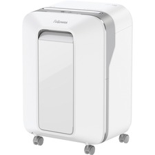 """Fellowes Powershred® LX200 Micro-Cut Shredder (White) - Continuous Shredder - Micro Cut - 12 Per Pass - for shredding Paper, Paper Clip, Credit Card, Staples, Junk Mail - 0.2"""" x 0.5"""" Shred Size - P-4 - 10 Minute Run Time - 15 Minute Cool Down Time - 22.71 L Wastebin Capacity - White"""