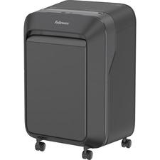 "Fellowes Powershred? LX210 Micro-Cut Shredder (Black) - Micro Cut - 16 Per Pass - for shredding Paper, Credit Card, Paper Clip, Staples, Junk Mail - 0.2"" x 0.5"" Shred Size - P-4 - 2.13 m/min - 9"" Throat - 20 Minute Run Time - 22.71 L Wastebin Capacity - Black"