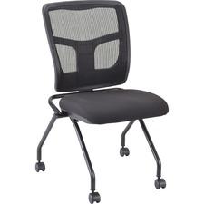 LLR 84385 Lorell Armless Mesh Back Nesting Chairs LLR84385