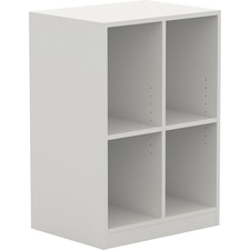 LLR 42401 Lorell White Double Cubby/Locker Storage Base LLR42401