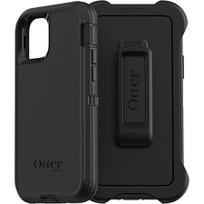 OtterBox Defender Carrying Case (Holster) Apple iPhone 11 Pro Smartphone - Black - Dirt Resistant Port, Dust Resistant Port, Lint Resistant Port, Anti-slip, Drop Resistant - Polycarbonate Shell, Synthetic Rubber Cover, Polycarbonate Holster - Belt Clip