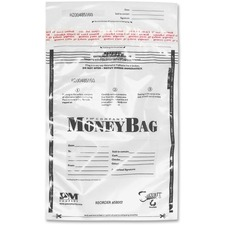 "ICONEX 9x12 Disposable Deposit Bags - 9"" Width x 12"" Length - Clear - Plastic - Money"