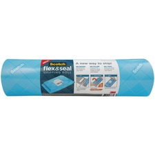 """Scotch Flex & Seal Shipping Roll, FS-1510-EF, 15 in x 10 ft (381 mm x 3.04 m) - 15"""" (381 mm) Width x 10 ft (3048 mm) Length - Water Resistant, Tear Resistant, Cushioned, Self-sealing, Recyclable, Adhesive"""