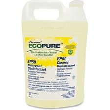Ecopure EP50 Cleaner Disinfectant - Liquid - 135.3 fl oz (4.2 quart) - 1 Each - Yellow