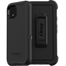 OtterBox Carrying Case (Holster) Google Pixel 4 Smartphone - Black - Drop Resistant, Dirt Resistant, Scrape Resistant, Bump Resistant, Lint Resistant Port, Dust Resistant - Polycarbonate Shell, Synthetic Rubber Cover, Polycarbonate Holster - Belt Clip