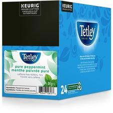 Tetley® Tea K-Cup - Decaffeinated, Herbal Tea - Peppermint Tea - 24 / Box