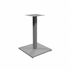 "Heartwood 900- Square Metal Base - 19.8"" x 19.8"" x 28"" - Material: Metal - Finish: Silver, Powder Coated"