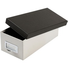 """Oxford 3x5 Index Card Storage Box - External Dimensions: 11.5"""" Length x 5.5"""" Width x 3.9"""" Height - Media Size Supported: 3"""" (76.20 mm) x 5"""" (127 mm) - 1000 x Index Card (3"""" x 5"""") - Black, Marble White - For Index Card, Notes, Recipe, Photo, Small Parts - 1 Each"""