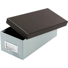 """Oxford 3x5 Index Card Storage Box - External Dimensions: 11.5"""" Length x 5.5"""" Width x 3.9"""" Height - Media Size Supported: Index Card 3"""" (76.20 mm) x 5"""" (127 mm) - 1000 x Index Card (3"""" x 5"""") - Black, Blue - For Index Card, Notes, Recipe, Photo, Small Parts - 1 Each"""