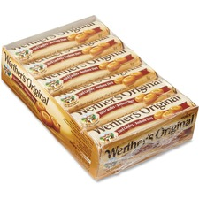 Vending Products of Canada Werther's Original Hard Candy Packs - Caramel - 50 g - 12 / Box