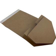 "Spicers Paper Shipping Case - External Dimensions: 18"" Width x 15"" Depth x 10"" Height - Flap Closure - Kraft - 12 / Carton"