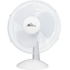"Royal Sovereign 16"" Oscillating Desktop Fan - DFN-40B - 16"" Diameter - 3 Speed - Oscillating, Safety Grill, Adjustable Tilt Head, Quiet Operation, Removable Grill, Durable, Easy to Clean - 20.90"" (530.86 mm) Height x 16.90"" (429.26 mm) Width x 11.80"" (299.72 mm) Depth - White"