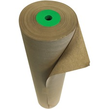 """Spicers Paper Art Paper Roll - Packing, Shipping, Wrapping - 24"""" (609.60 mm)Width x 1200 ft (365760 mm)Length - 1 Each - Kraft"""