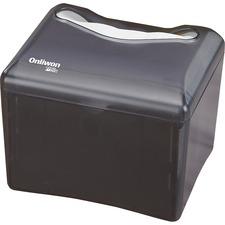 "White Swan Tabletop Napkin Dispenser - Touchless Dispenser - 6.10"" (154.94 mm) Height x 7.30"" (185.42 mm) Width x 6.30"" (160.02 mm) Depth - Black, Smoke, Gray - Durable, Hands-free"