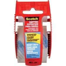 """Scotch Super Strength Packaging Tape - 22.2 yd (20.3 m) Length x 1.89"""" (48 mm) Width - Dispenser Included - 1 Each - Clear"""