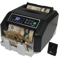Royal Sovereign Commercial Bill Counter - RBC-ES210-CA - 200 Bill Capacity - Counts 1400 bills/min - Sorts - coins/minBlack