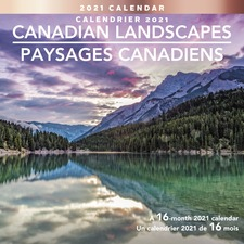 At-A-Glance Canadian Landscapes Wall Calendar - Monthly - 1.3 Year - September till December - 1 Month Double Page Layout - Stapled - Paper - Full-Color Scenic Photos, Dated Planning Page, Planning Matrix, Printed, Unruled Daily Block, Holiday Listing, Re