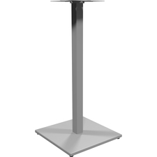 "Heartwood 900 - Square Metal Base - Bar Height - 19.8"" x 19.8"" x 41"" - Material: Metal - Finish: Silver, Powder Coated"