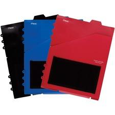 "Five Star Notebook Organizer Pocket - 11"" Height x 9"" Width - 0.1"" Thickness - For Letter 8 1/2"" x 11"" Sheet - Ring Binder - Rectangular - Assorted - 1 Each"