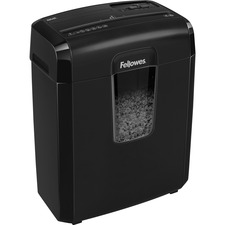 "Fellowes Powershred 8MC Micro-Cut Shredder - Non-continuous Shredder - Micro Cut - 8 Per Pass - for shredding Staples, Credit Card, Paper - 0.1"" x 0.4"" Shred Size - P-4 - 1.68 m/min - 8.7"" Throat - 5 Minute Run Time - 30 Minute Cool Down Time - 14.38 L Wa"
