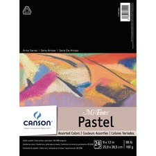 """Canson Mi-Teintes Pastel Paper - 24 Sheets - 98 lb Basis Weight - 12"""" (304.80 mm) x 9"""" (228.60 mm) - Acid-free, Fade Resistant, Textured - 1Each"""