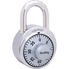 """Master Lock Padlock - 1000 Digit - 0.24"""" (6.10 mm) Shackle Diameter - Cut Resistant - Stainless Steel, Hardened Steel Shackle - 1 Each"""