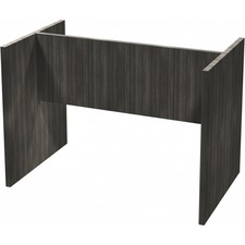 "Heartwood Grey Dusk Laminate Racetrack Table Base - 71"" x 23.8"" x 28"" - Finish: Gray Dusk, Laminate"