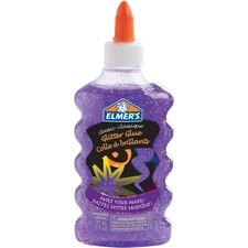 Elmers Classic Glitter Glue - School Project, Craft Project, Classroom Activities - Recommended For - 1 Each - Purple