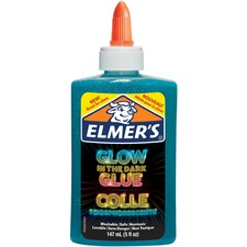 Elmers Glow In The Dark Pourable Glue - Art, Craft, Project, Classroom Activities - Recommended For - 1 / Pack - Blue