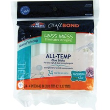 Elmers Craft Bond All-Temp Full Glue Gun Sticks - 24 / Pack - Clear
