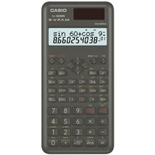 """Casio FX300MSPLUSII Scientific Calculator - 240 Functions - Protective Hard Shell Cover, Dual Power, Backspace Key - 2 Line(s) - 10 Digits - Battery/Solar Powered - 0.4"""" x 3.1"""" x 6.1"""" - Black - 1 Each"""