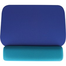 """Data Accessories Company Palm Support Mouse Pad - 1"""" (25.40 mm) x 8.50"""" (215.90 mm) x 10"""" (254 mm) Dimension - Blue, Teal - 1 Pack"""