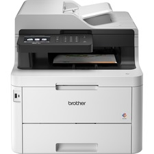 Brother MFC MFC-L3770CDW Wireless LED Multifunction Printer - Color - Copier/Fax/Printer/Scanner - 25 ppm Mono/25 ppm Color Print - 2400 x 600 dpi Print - Automatic Duplex Print - Upto 30000 Pages Monthly - 280 sheets Input - Color Scanner - 1200 dpi Optical Scan - Monochrome Fax - Ethernet - Wireless LAN - Wi-Fi Direct, Near Field Communication (NFC), Apple AirPrint, Google Cloud Print, Brother iPrint&Scan, Mopria - USB - 1 Each - For Plain Paper Print