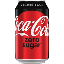 Coca-Cola Canned Coke Zero Carbonated Beverage - Ready-to-Drink Diet - Original Flavor - 355 mL - 24 / Box / Can