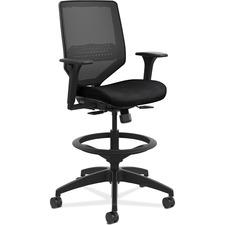HON Solve SVSM1LC10 Task Chair - 5-star Base - Black - 1 Each