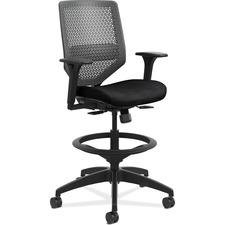 HON Solve SVSR1CL10 Task Chair - Mid Back - 5-star Base - Black - 1 Each