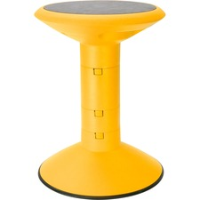 Storex Student Wiggle Stool - Yellow - 1 Each
