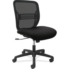 HON Gateway GVNACCF10 Task Chair - Mesh Back - Black Frame - Mid Back - Black - No - 1 Each