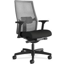 HON Ignition I2MRL2AC10 Task Chair - Black Frame - Mid Back - Black - 1 Each