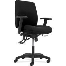 HON Network VL282A2BLK Task Chair - Mid Back - 5-star Base - Black - 1 Each