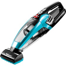BISSELL PowerLifter Cordless Hand Vacuum - 700 mL - Bagless - Filter, Motorized Floor Brush, Upholstery Tool, Crevice Tool, Stair Tool, Dirt Cup - Carpet, Bare Floor - 3-stage - Battery - Battery Rechargeable - 12 V DC, 10.8 V DC - Black, Disco Teal