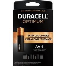 Duracell Optimum Battery - For General Purpose - AA - 4 / Pack