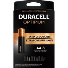 Duracell Optimum Battery - For General Purpose - AA - 8 / Pack