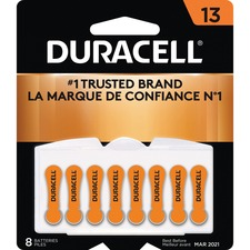 Duracell Battery - For Hearing Aid - 13 - 1.4 V DC - 8 / Pack