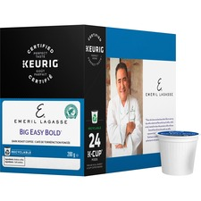 Emeril's Big Easy Bold Coffee K-Cup - Compatible with Keurig K-Cup Brewer - Caffeinated - Parisian Roast - Dark - Kosher - 24 / Box