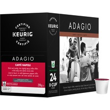Keurig Caffè Napoli K-Cup Recyclable Pods (Box of 24) K-Cup - Compatible with Keurig K-Cup Brewer, Keurig 2 Brewer - Spice, Chocolate, Arabica, Smoky, Woodsy - Dark - 24 / Box