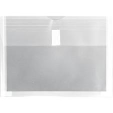 """Winnable Standard Poly Envelope - Document - 11 4/5"""" Width x 8 3/4"""" Length - Hook & Loop - 1 Each - Clear"""